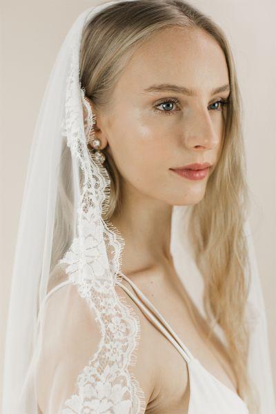 Spellbinder - Lace Edged Long Wedding Veil