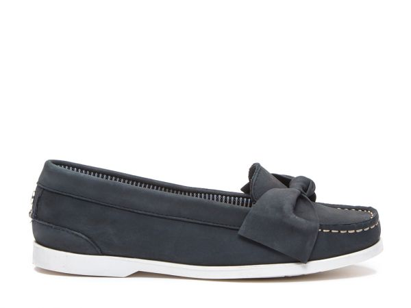 Maya - Premium Leather Bow Loafers