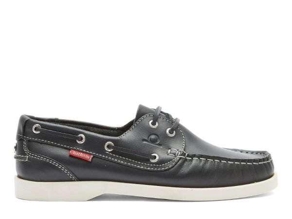 Salcombe - Premium Leather Lace-Up Boat Shoes