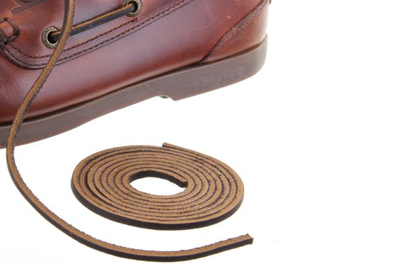 Dark Brown Leather Laces