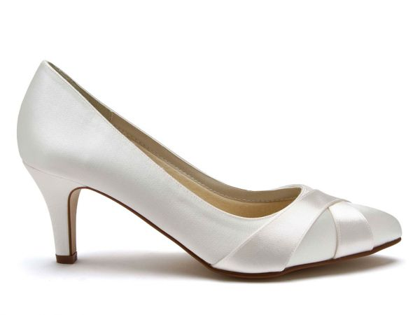Lexi - Ivory Satin Wide Fitting Wedding Shoes