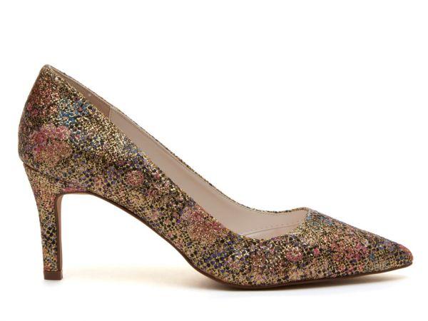 Morgan - Gold Glitter Bomb Bridal Court Shoes