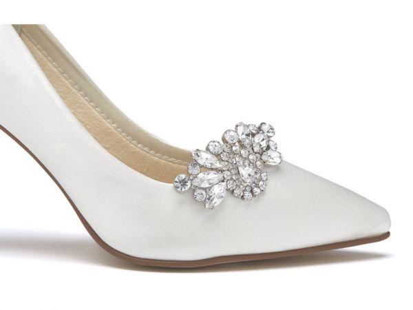 Myra - Diamante Brooch Bridal Shoe Clips