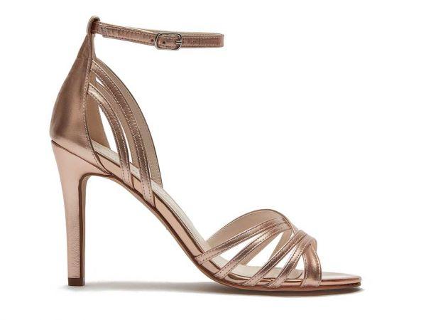 Olivia - Rose Gold Statement Wedding Sandals