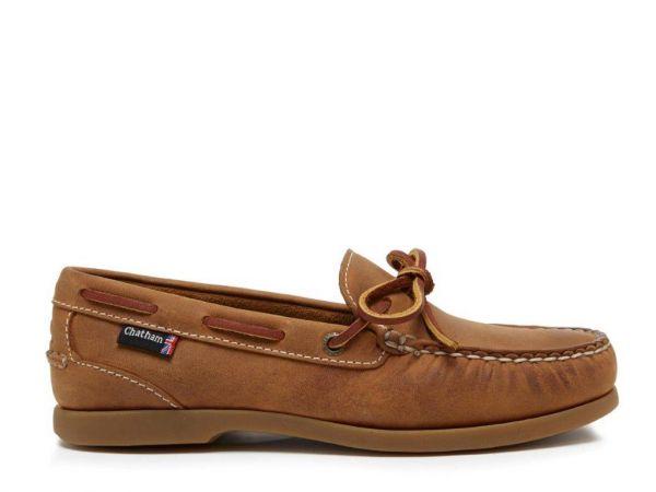 Olivia G2 - Walnut Slip-On Deck Shoes