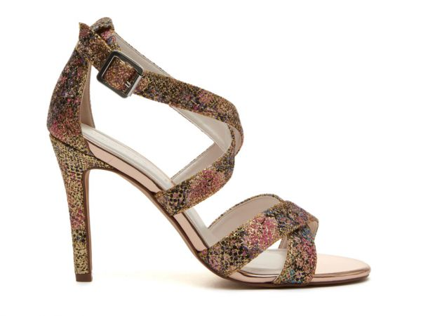 Reese - Gold Glitter Bomb Wedding Sandals