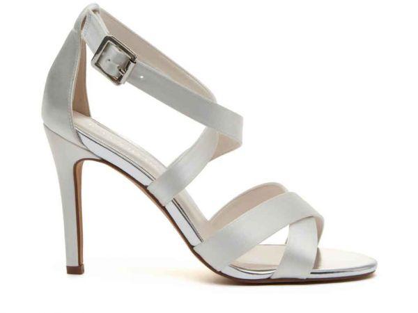 Reese - Ivory Satin Wedding Sandals