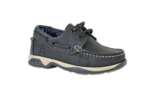 Skipper - Kids Leather Boat Shoes