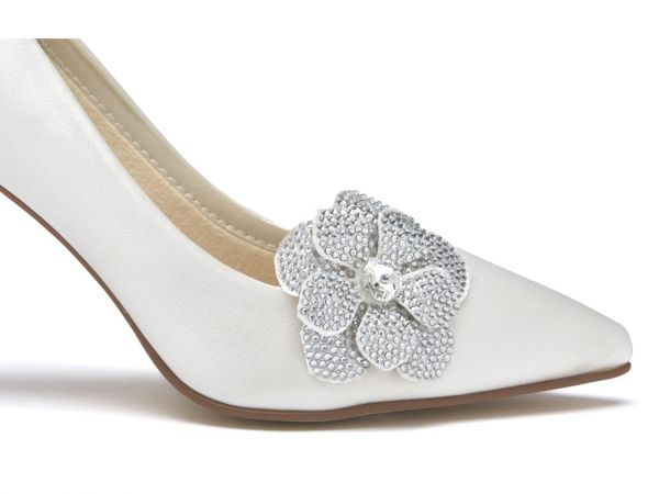 Vela - Diamante Flower Bridal Shoe Clips