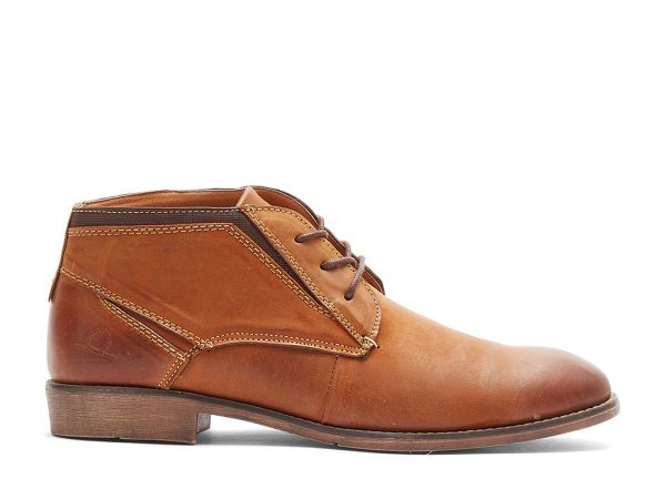 Woody - Leather Lace-Up Desert Boots