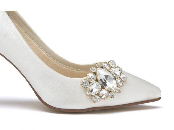 Xenia - Sparkly Brooch Wedding Shoe Clips