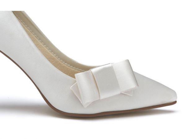 Zavior - Elegant Satin Bow Wedding Shoe Clips