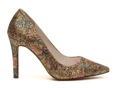 Coco - Gold Glitter Bomb Bridal Court Shoes
