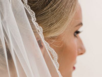 Gazania - Lace Edge Short Wedding Veil