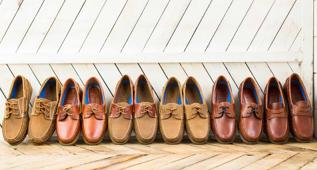 The DeckBrown Leather Mens Boat ShoesChatham Footwear